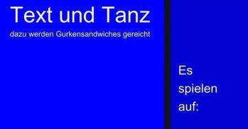 """09.02.2019 – """"Text und Tanz"""" Veranstaltung"""
