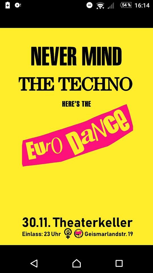 30.11. – Never mind the techno – here's the eurodance